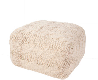Jaipur Rugs Milford By Rug Republic Solid Pattern Wool Pouf