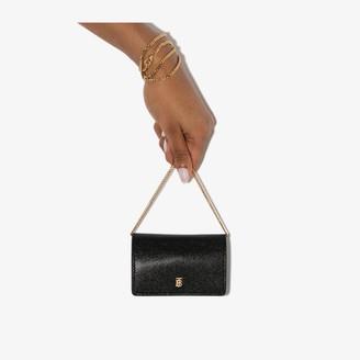 Burberry black Jessie mini leather chain wallet