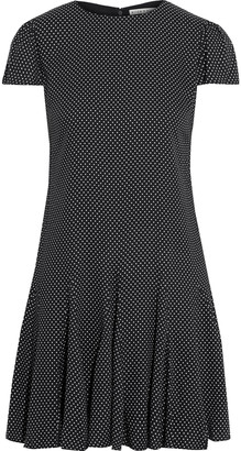 Alice + Olivia Dolly Pleated Polka-dot Crepe Mini Dress