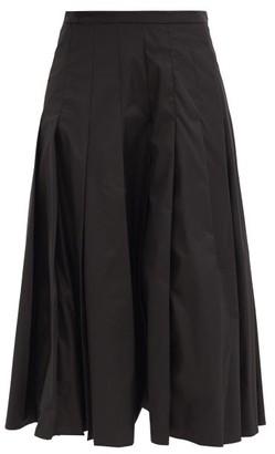 Moncler Pleated Poplin Midi Skirt - Black