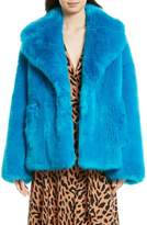 Diane von Furstenberg Women's Faux Fur Jacket