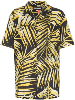 Double Rainbouu palm-print cotton Hawaiian shirt