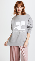 Courreges Fleece Logo Sweatshirt