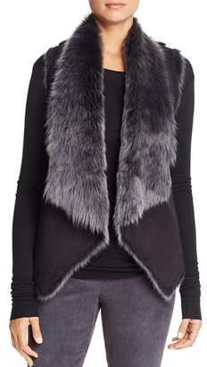 Elie Tahari Quinn Reversible Fur Vest