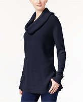 MICHAEL Michael Kors Mixed-Knit Cowl-Neck Sweater