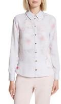 Ted Baker Women's Relar Chelsea Grey Flower Print Shirt