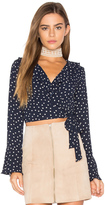 Eight Sixty Polka Dot Wrap Top