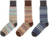Paul Smith Men's 3 Pack Multistripe Socks