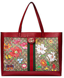 Gucci Women's Medium Ophidia GG Floral Tote