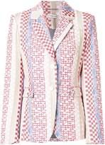 Altuzarra geometric printed notch collar blazer