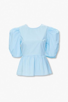 Forever 21 Puff-Sleeve Flounce Top
