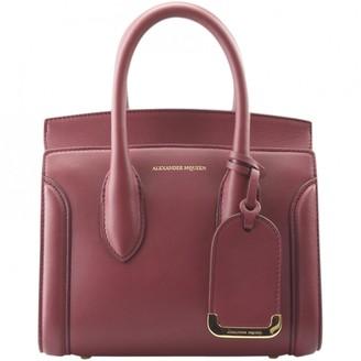 Alexander McQueen Heroine Chain Burgundy Leather Handbags