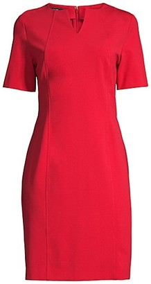 Misook Split-Neck Seam Detail Dress