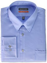 Geoffrey Beene Men's Micro Chip Sateen Fitted Solid Point Collar Dress Shirt