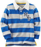 Carter's Long-Sleeve Rugby Striped Polo