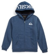 Quiksilver Boy's Best Wave Faux Shearling Lined Hoodie