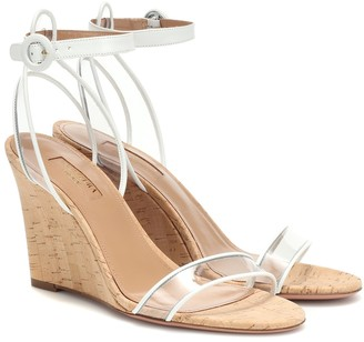 Aquazzura Minimalist 85 wedge sandals