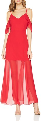 Girls on Film Clothing Women's Pink & Red Maxi Dress Party