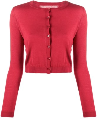 RED Valentino Cropped Round-Neck Cardigan