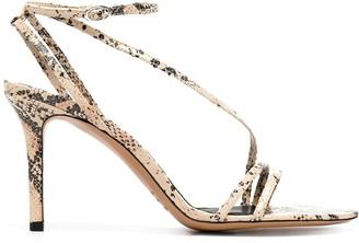 Isabel Marant Snake-Print Leather Sandals