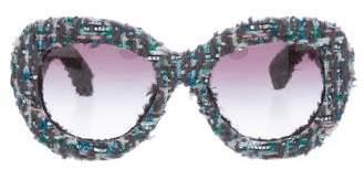 Chanel Tweed Oversize Sunglasses