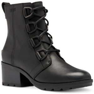 Sorel Women's Cate Waterproof Lace-Up Lug Sole Booties Women's Shoes