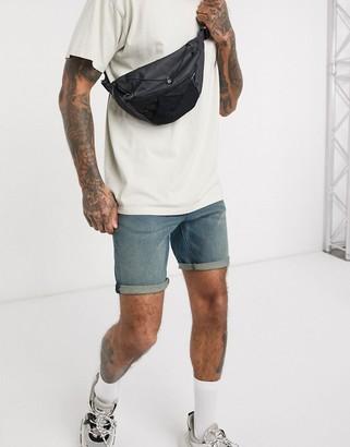 Asos DESIGN skniny denim shorts in vintage dark wash