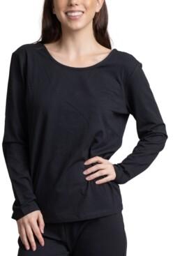 Muk Luks Women's Draped Back Lounge T-Shirt
