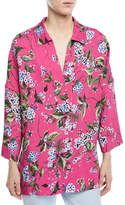 Escada V-Neck Floral-Print Tunic