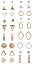 BP Women's 18-Pack Mixed Metal Earrings