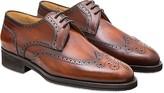 Pakerson Wood Italian Handmade Calfskin Lace-Up Shoes
