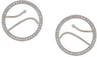 Alan Crocetti Embellished Hoop Cuff Earring