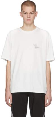C2H4 White Distorted Horizon Coordinate T-Shirt