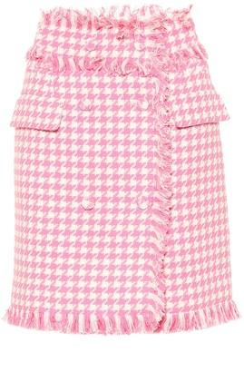 MSGM Houndstooth tweed skirt