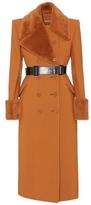 Bottega Veneta Shearling-trimmed wool coat