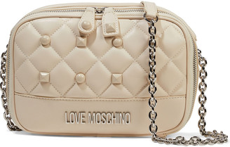 Love Moschino Studded Quilted Faux Leather Shoulder Bag