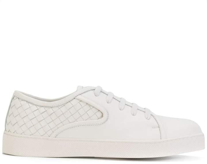 Bottega Veneta bianco Intrecciato nappa dodger sneaker