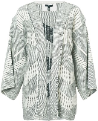 Voz open front knitted jacket