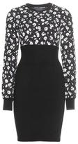Dolce & Gabbana Floral-printed Cashmere-blend Dress
