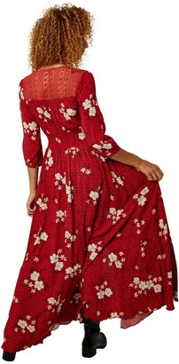 Joe Browns Beautiful Boho Dress - Red