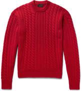 Prada Cable-Knit Virgin Wool Sweater