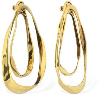 Alexander McQueen Double Layer Shaped Drop Earrings