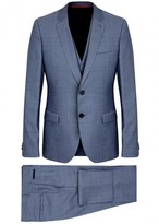 Hugo Blue Super 110's Wool Three-piece Suit