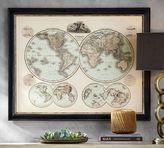 Pottery Barn Global Map Framed Print