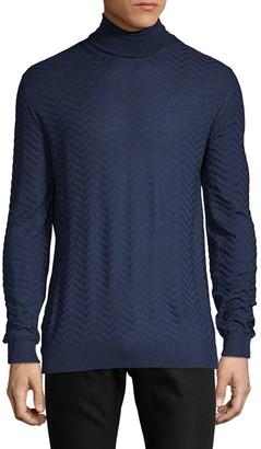 Larusmiani Chevron Wool Sweater