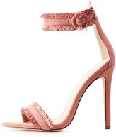 Charlotte Russe Fringe Two-Piece Dress Sandals