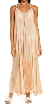 Elan International Crochet Godet Cover-Up Maxi Dress