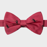 Paul Smith Men's Red 'Kaiju' Pattern Silk Bow Tie