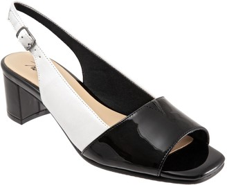 Trotters Leather Block-Heel Slingbacks - Monique
