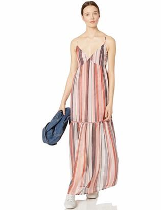 Jack by BB Dakota Junior's Sailor's Delight Printed Crinkle Chiffon Maxi Dress